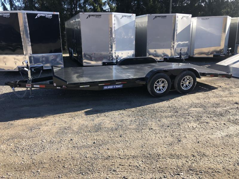 2020 Sure-Trac 82x18 3.5ton Steel Floor Car / Racing Trailer