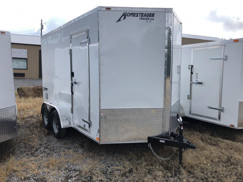 2021 Homesteader 7x12 Intrepid tandem 12in extra ht sd ramp Enclosed Cargo Trailer