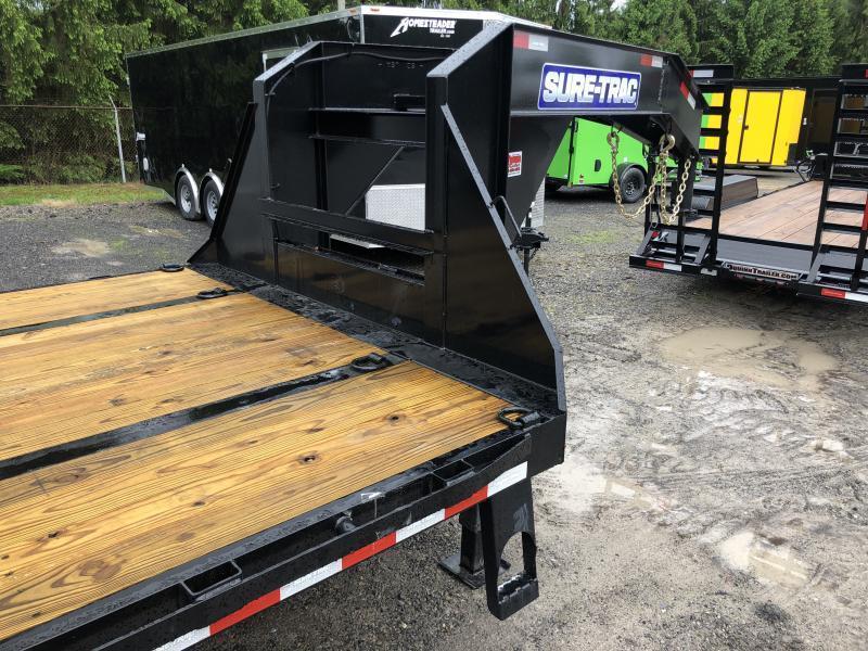 2021 Sure-Trac 25 20+5 22.5K GN Tandem Dual w/Full Width Ramps Equipment Trailer