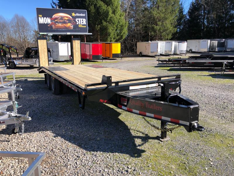 2021 Quality Trailers 25' 20+5 25k Pintle Pro Deckover Equipment Trailer