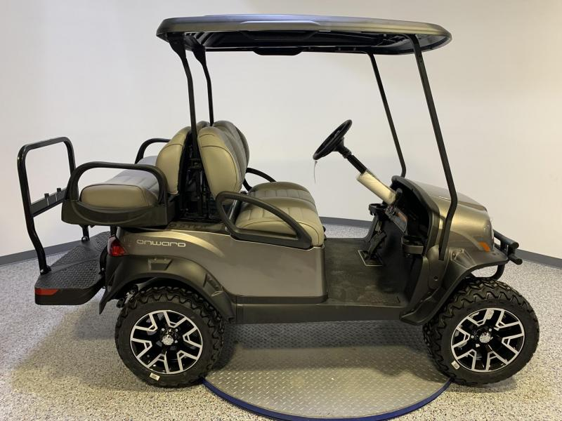2021 Club Car Onward 4 Passenger Lifted Gas Metallic Platinum