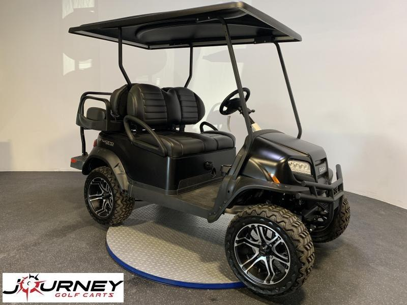 2019 Club Car Onward Matte Black Special Edition Lifted 4 Passenger Electric