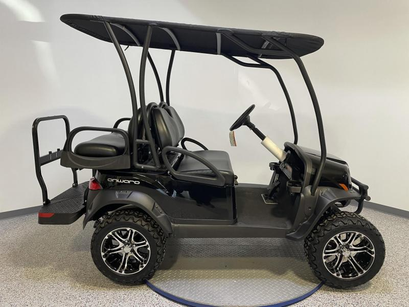 2021 Club Car Onward Lifted EFI Gas 4 Passenger Custom Roof