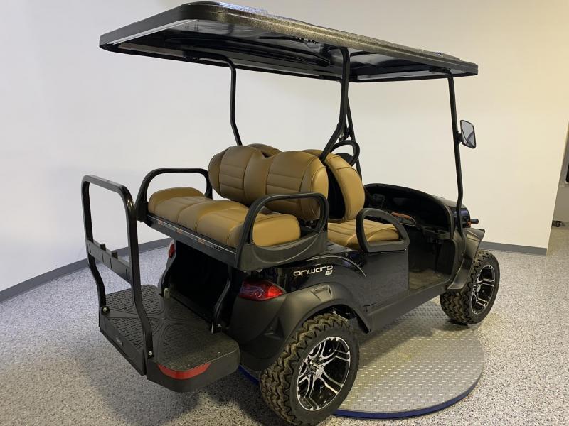 2021 Club Car Onward Lifted 4 Passenger Metallic Platinum HP AC