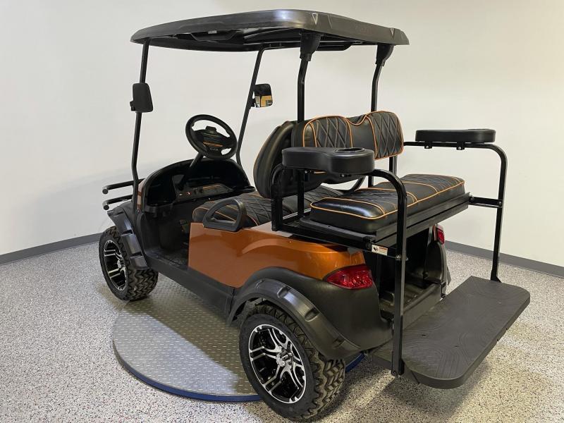 2021 Club Car Journey Edition 4 Passenger Lifted 48V Atomic Orange Golf Cart