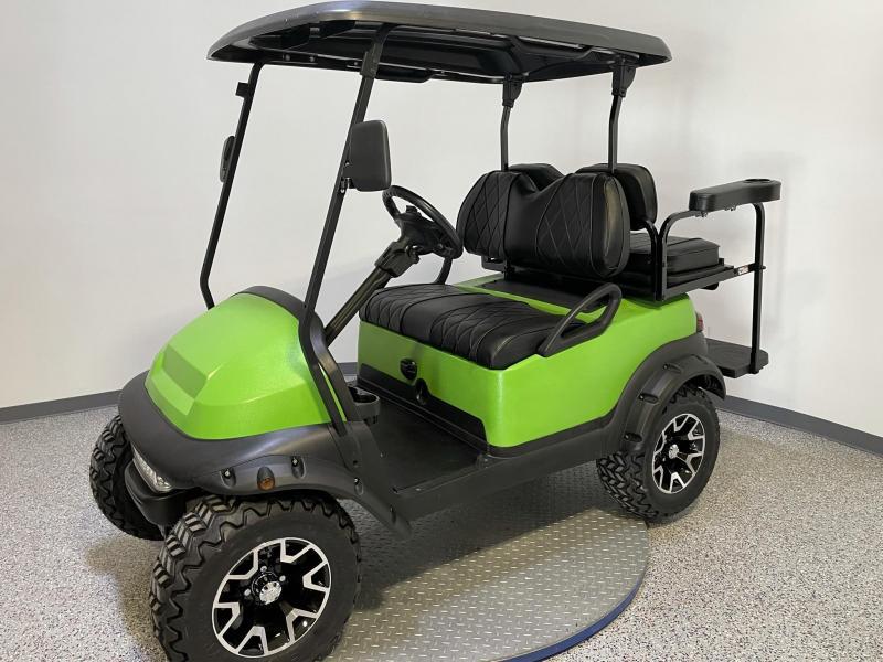 2014 Club Car Precedent Lifted 4 Passenger Synergy Green Kevlar Body  Golf Cart