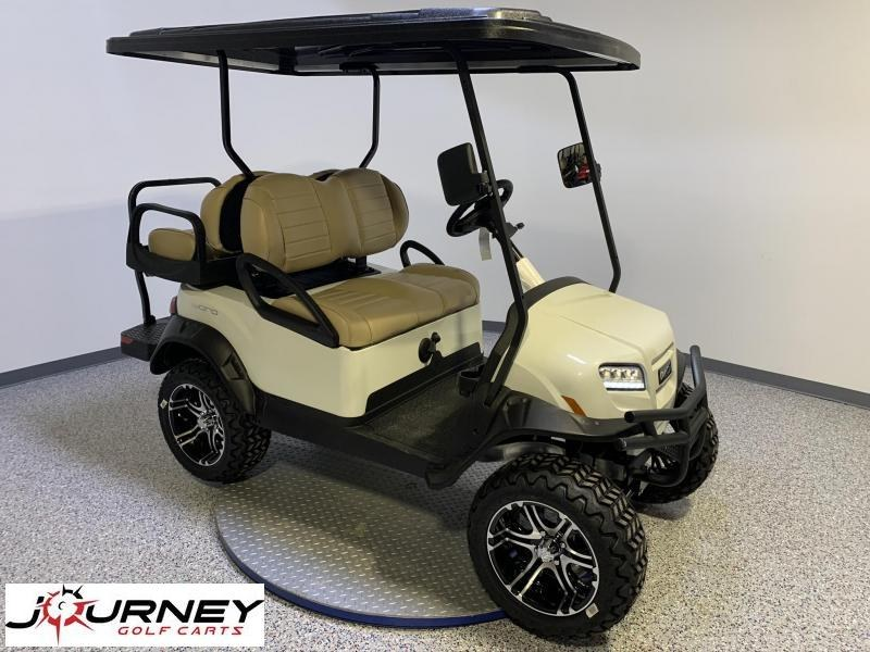 2021 Club Car Onward 4 Passenger Lifted Gas Metallic Glacier Pearl White