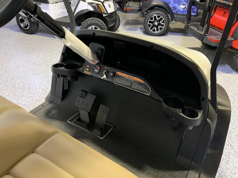 2021 Club Car Onward 4 Passenger Lifted Gas Metallic Glacier Pearl White