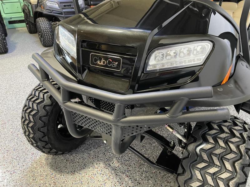 2021 Club Car Onward Metallic Tuxedo Black Premium Seating EFI Gas 6 Passenger Lifted Golf Cart