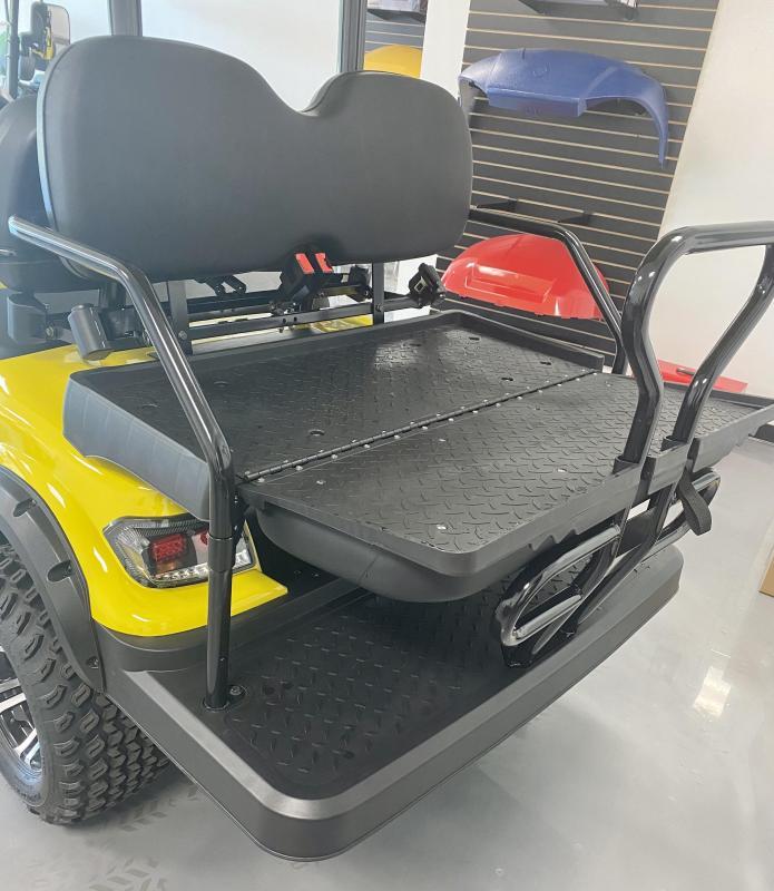 2021 ICON i60L Golf Cart Yellow Lifted 6 Pass New Trojan Batteries