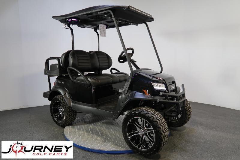 2021 Club Car Onward 4 Passenger Lifted ProBox Stereo Metallic Black