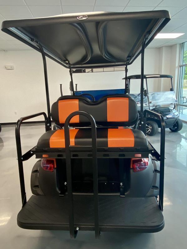 2021 EFI Gas 4 Passenger Matte Orange Club Car Precedent Golf Cart Lifted