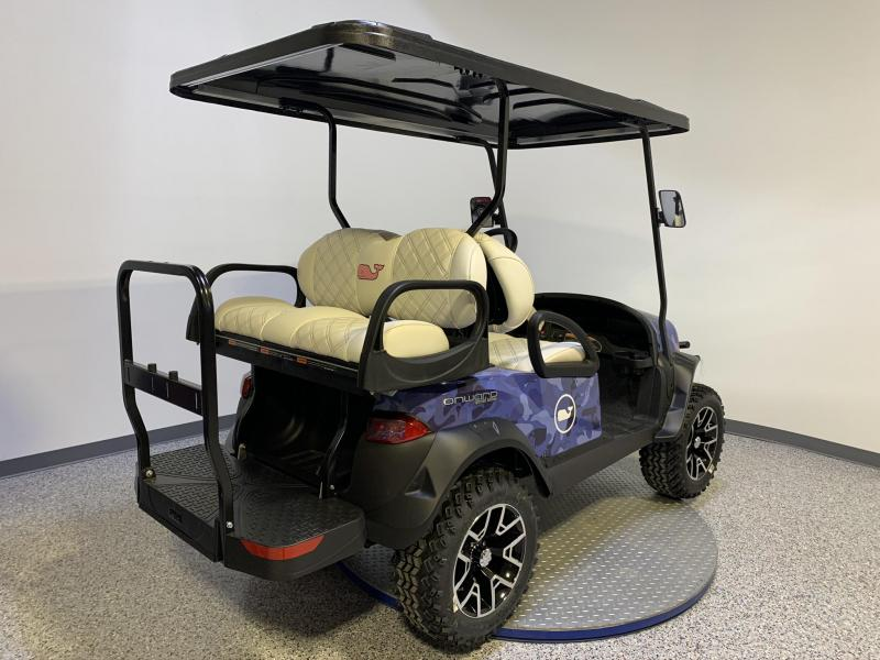 2020 Club Car Special Edition Vineyard Vines Gas EFI Lifted 4 Passenger