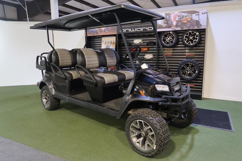 2019 Club Car Onward 6 Passenger Metallic Black Limited Edition Lifted