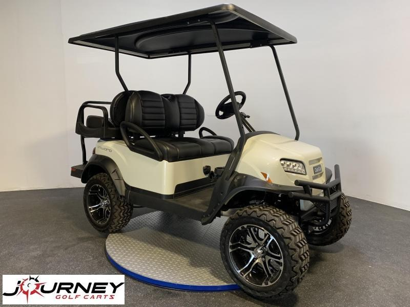 2019  Club Car Onward Metallic Glacier White 4 Passenger Lifted Electric Lots of Options