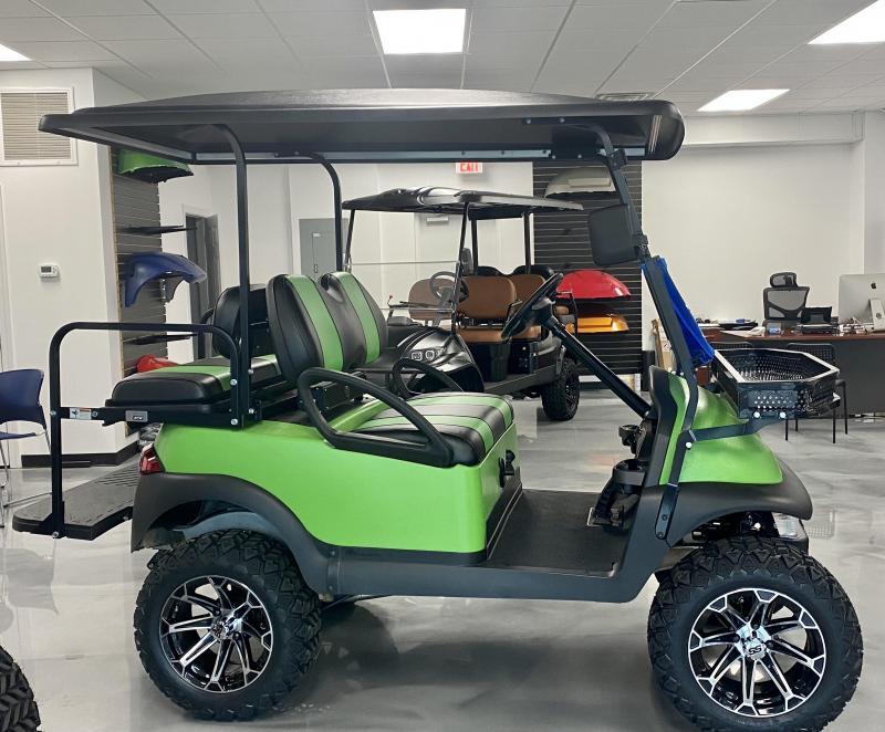 2021 Matte Green Club Car Precedent EFI Gas Golf Cart Lifted