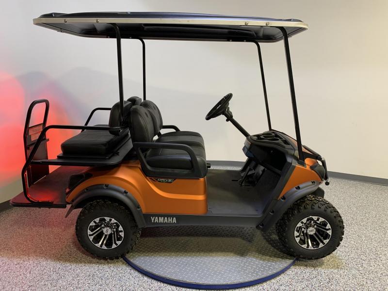 2021 Yamaha Drive 2 Atomic Flame 4 Passenger Quiet Tech Gas Lifted Custom Wheels