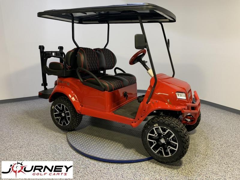 2021 Club Car Special Edition Comback Classic Red HP AC Lifted 4 Passenger