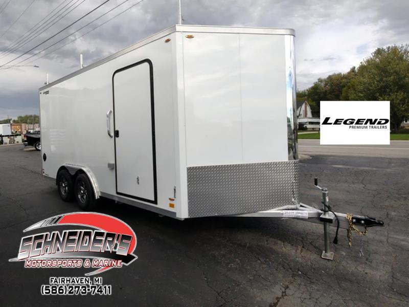 2022 Legend Trailers 8X19 FLAT TOP V NOSE Enclosed Cargo Trailer
