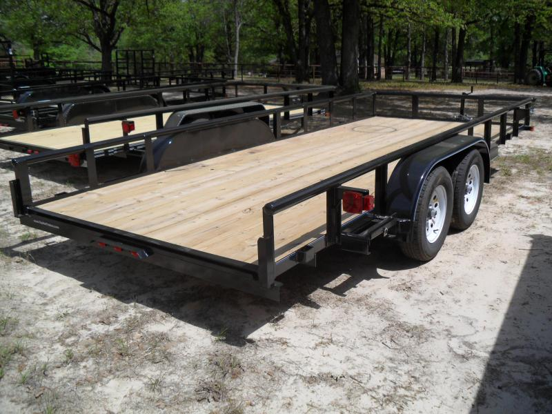 """2021 Top Hat Trailers 18' x 83"""" Pipe Top Utility Trailer"""