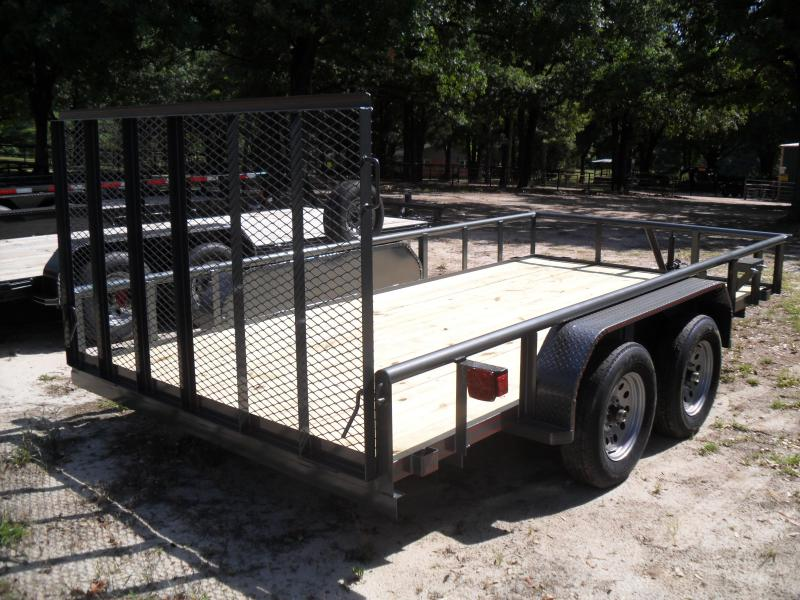 """2021 Tiger 14' x 77"""" Tandem axle pipe top Utility Trailer"""