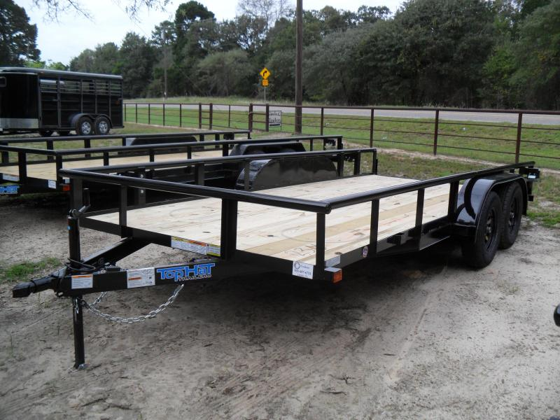 "2021 Top Hat Trailers 16' x 83"" pipe top Utility Trailer"