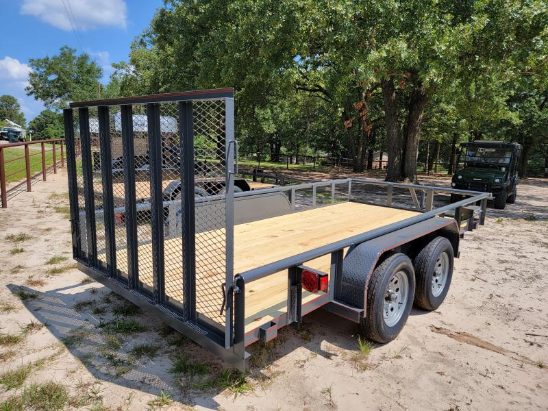 """2021 Tiger 14' x 77"""" Pipe Top Utility Trailer"""