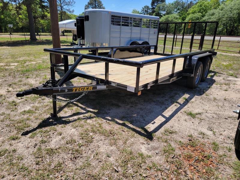 "2021 Tiger 16' x 83"" Pipe top Utility Trailer"