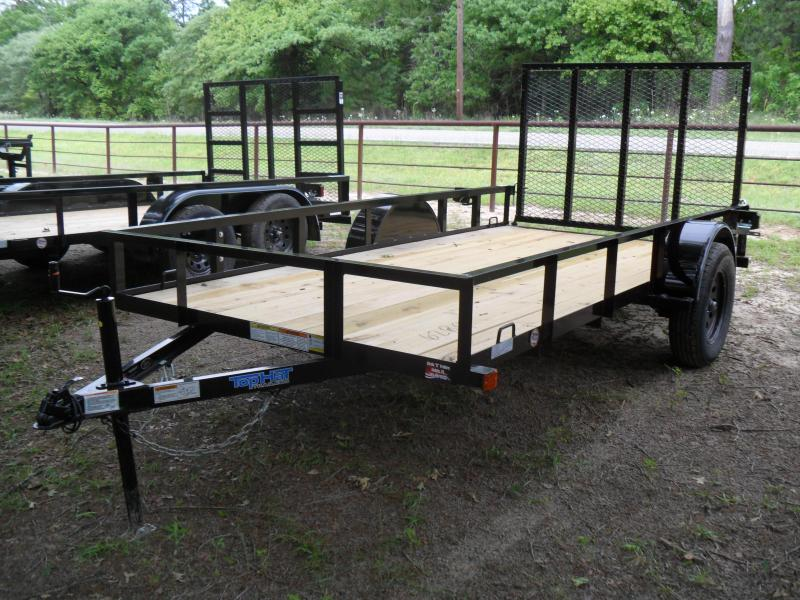 "2021 Top Hat Trailers 12' x 77"" single axle Utility Trailer"
