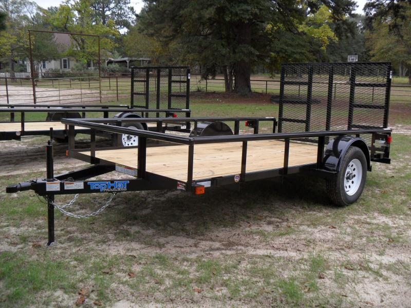 "2020 Top Hat Trailers 12' X 77"" Pipe top Utility Trailer"