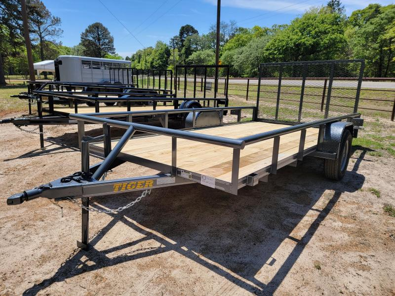 "2021 Tiger 14' x 77"" Pipe Top Utility Trailer"
