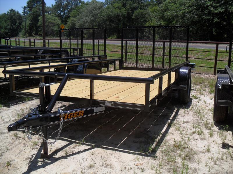 """2021 Tiger 12' x 77"""" pipe top Utility Trailer"""