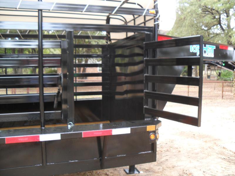"2021 Top Hat Trailers 24' x 6'8"" Bar Top Livestock Trailer"