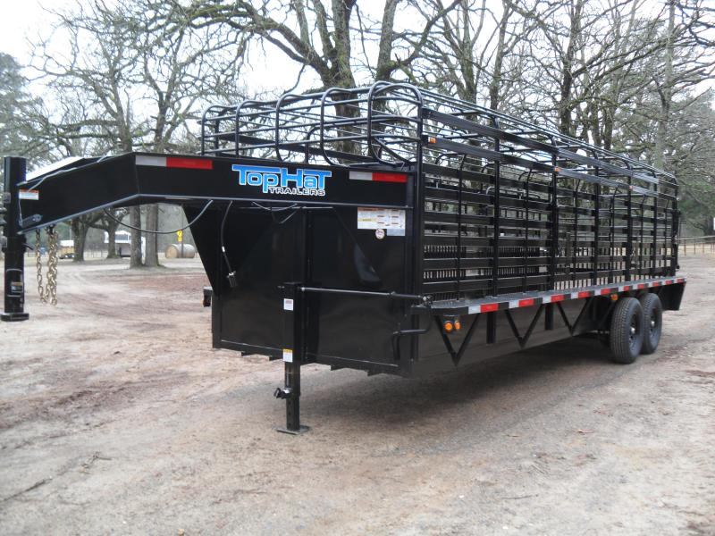 "2021 Top Hat Trailers 24' x 6'8"" Bar Top Livestock Trailer"