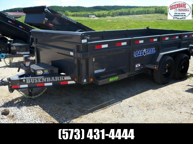 16X083 Load Trail Gray Dump Trailer Max Step Slide In Ramps DT8316072
