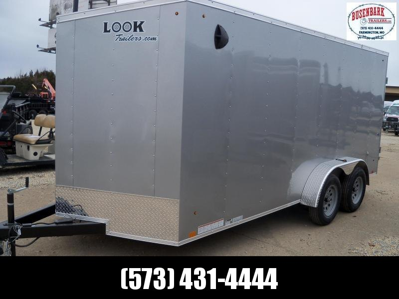 16X084 Look Silver Enclosed Cargo Trailer Deluxe LSCAB7.0X16TE2FF