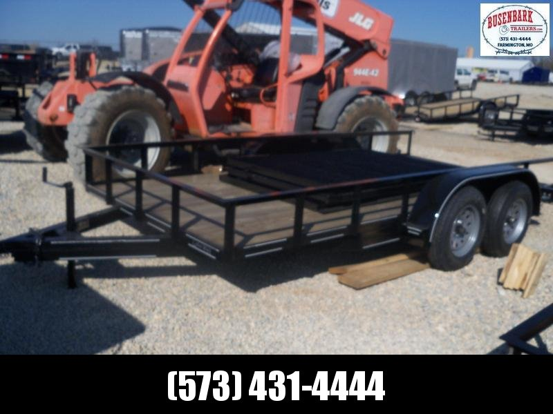 14X077 Busenbark Black Utility Trailer With Gate UT7714