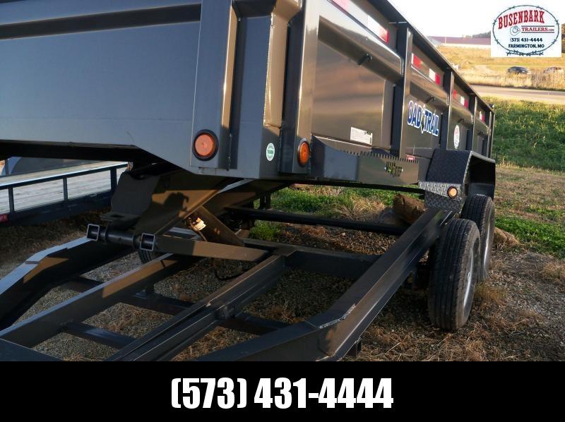 16x083 Load Trail Black Tandem Axle Dump Trailer Drop Axles  DT8316072