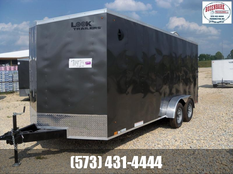 18X084 Look Charcoal Enclosed Cargo Trailer LSCAB7.0X18TE2FF