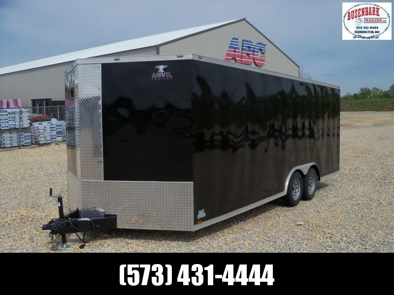 20X102 Anvil Black Enclosed Cargo Trailer AT85X20TA2