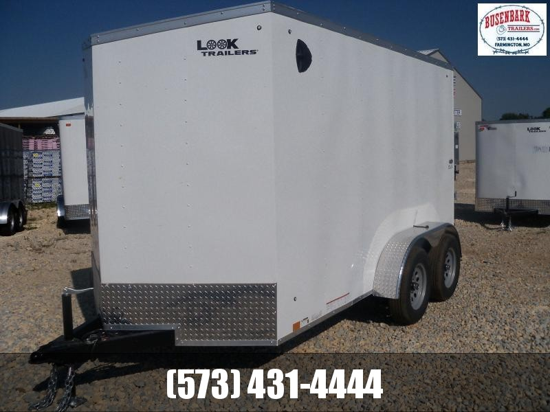 12X072 Look Charcoal Enclosed Cargo Trailer LSCAB6.0X12TE2FF
