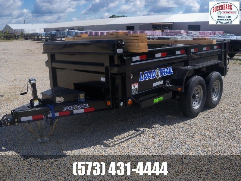 12X072 Load Trail Black Dump Trailer Slide In Ramps Rapid Battery Charger DT7212052