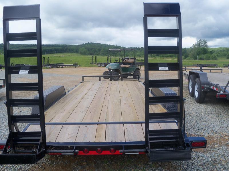 20X083 Load Trail Black Tandem Axle Carhauler Fold Up Ramps CH8320052