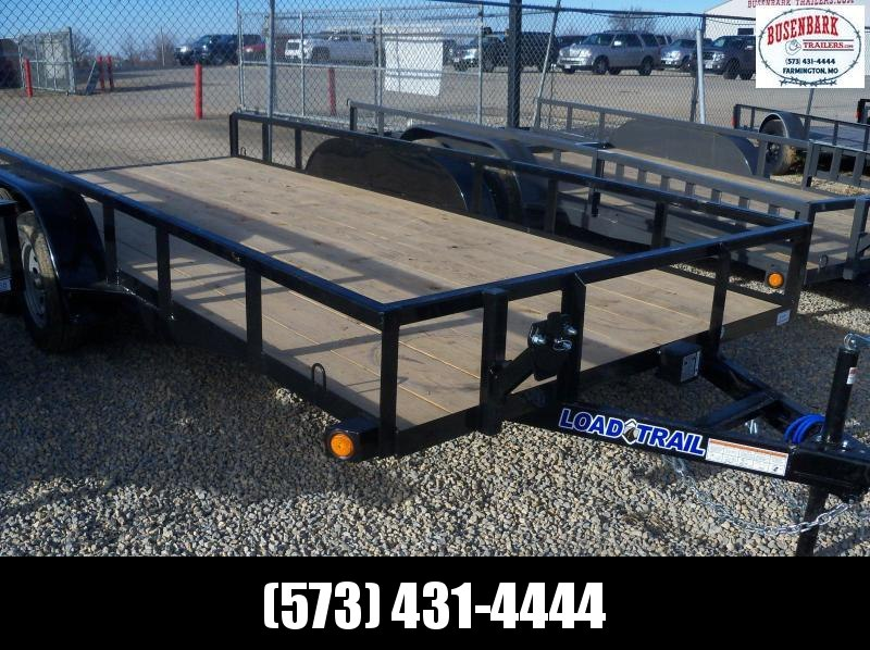 16X083 Load Trail Black Utility Trailer Slide In Ramps Treated Wood  UE8316032