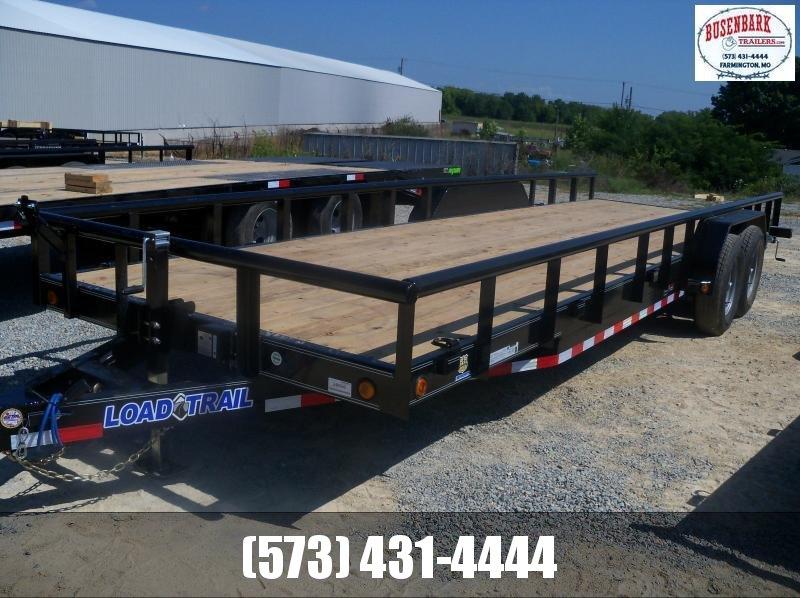 24X083 Load Trail Black Carhauler With Side Rails & Slide In Ramps CS8324052