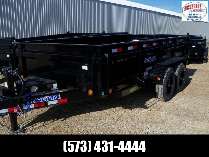 14X083 Load Trail Black Dump Trailer Slide In Ramps DT8314072