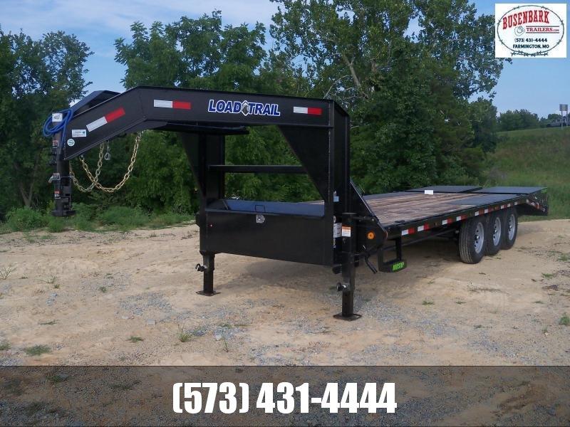 24X102 Load Trail Metallic Black Gooseneck With Max Ramps GS0224073