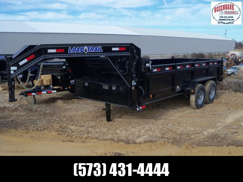 16X083 Load Trail Black Gooseneck Dump Trailer GD8316072