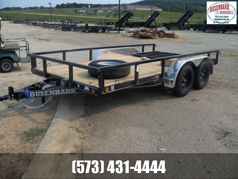 14X083 Load Trail Black Utility Trailer 4' Gate XT8314032