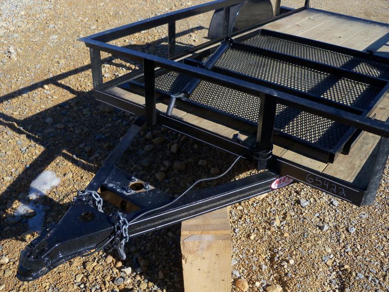 10X060 Busenbark Black Utility Trailer 4' Gate UT6010